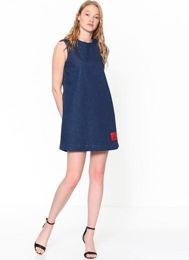 Kolsuz Jean Mini Elbise-Calvin Klein